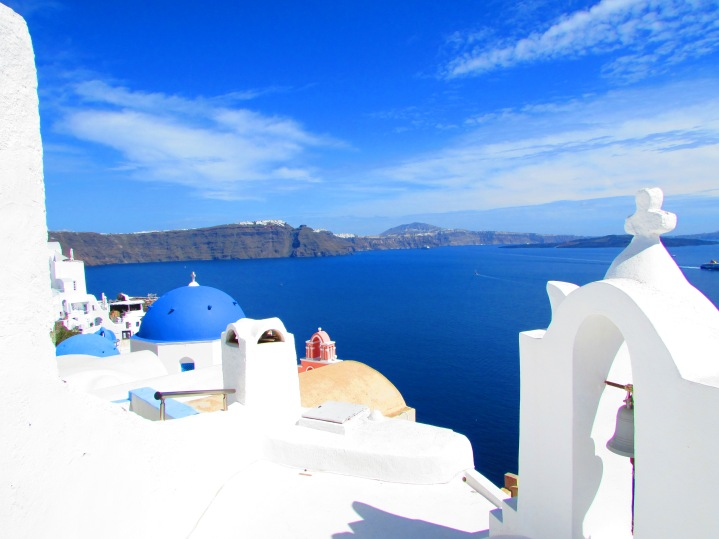 View of Fira in the distance